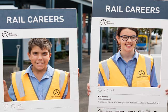 Some of the students who attended our rail careers event in April 2019